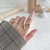 Silvology 925 Sterling Argent Irrégulière Ajouré Ovale Anneaux Minimaliste Élégant Géométrique Anneaux Pour Les Femmes 2019 Japon Bijoux Cadeau