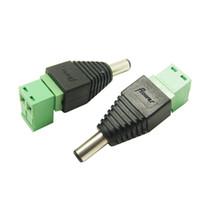 FREESHIPPING 100pcs التي شحن مجاني 5.5 * 2.5 الذكور موصل DC DC 5.5 * 2.5MM التوصيل إلى المسمار الطرفي DC موصل الطاقة