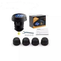 Ts61 Tire Pressure Monitoring System drahtlose Echtzeit-Zigarettenanzünder-Stecker TPMS und Temperaturanzeige mit externem Sensor