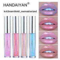 Trucco Handaiyan Liquid Crystal Lip Plumper olografica laser Lip Glow Mermaid Pigment polarizzata glitter Lipgloss di bellezza