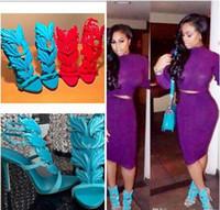 Kardashian 럭셔리 여성 스웨이드 잔인한 여름 펌프 세련된 골든 메탈 리프 날개가 달린 검투사 샌들 하이힐 신발 원래 상자