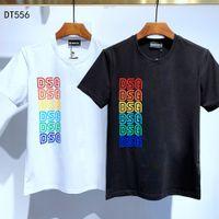 Camiseta del diseñador camisa de la manera DSQ FANTASMA TORTUGA 2020SS nuevo Mens París Patrón camisetas verano DSQ camiseta masculina de calidad superior 100% algodón Top 6815