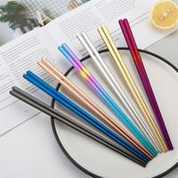Korean Chopstick Mi Korean Chopstick Edelstahl 304 Flach Firm Logo Personalisieren Chopstick Bestecke Bulk-Verkauf