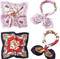 Sciarpe di seta 50 centimetri stampa di colore piccolo quadrato usura professionale arte prestazioni sciarpe di seta regalo sciarpe all'ingrosso