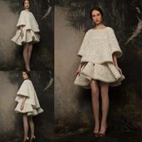 Neue Krikor Jabotian 2019 Mode Zwei Teile Abendkleider Bootshals Sexy Kurzes Abendklege Sonderanfertigte Spitze Formale Kleider