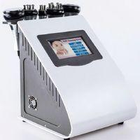 5in1 Ultrasonik Liposuction 40k kavitasyon Yağ Yakma Biopolar rf Yüz Bakımı Vakum Vücut zayıflama makinesi Spa DHL, UPS Ücretsiz nakliye