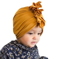 Spring autumn kids Hats turban solid strip Leopard newborn G...
