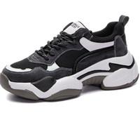 Baba bayanlar 2019 yeni online kırmızı gelgit gösteri ayakları küçük, çok yönlü spor eğlence ayakkabı panda ayakkabı eğitmenler atletik iyi spor bot ayakkabı