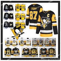 nhl pittsburgh penguins jerseys hockey jerseys 87 Sidney Cro...