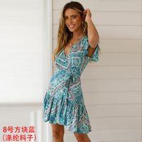 Mode pour dames robe d'été vêtements femme occasionnels femmes robes de créateurs jupes de vêtements Bohême Maxi dames robe pour femmes Taille Plus 13335