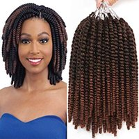 8 pulgadas Havana Mambo Twist Crochet Hair Tight and Bouncy Senegalese Twist Hair Twist Trenzas 15 hebras / paquete (T1B / 27 #)