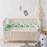 신생아 아기 침대 범퍼 220cm 어린이는 매듭 베개 범퍼 유아 침대 울타리면 쿠션 아이 방 침구 장식 트위스트