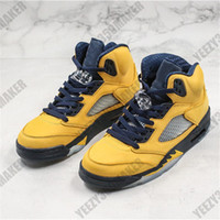 2019 OG 5 إلهام مضيئة الصفراء أحذية كرة السلة Jumpman 5S جلدية مصمم العليا الجديدة أزياء الرجال الاحذية الرياضية حذاء رياضة حجم 7-13