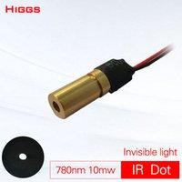 modulo laser dot 780nm 10mw di alta qualità infrarosso invisibile luce localizzatore DIY-point fisso trasmettitore laser personalizzabile