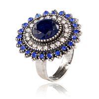 Anillo de girasol pop abierto anillo de moda joyería de moda europea y americana