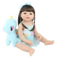 55 سم سيليكون كامل متجدد الطفل Lifely Life Like Vinyl Princess Unicorn Babys Babys Sheeph Toy Kids Birthday Gift Up Doll MX200414