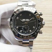 Luxury fashion men's watch 2836-4c multi-function automatic chain movement 6 words to the sun, moon and stars and calendar show waterproof O