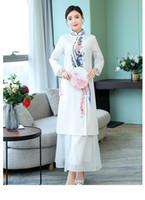 سروال جديدة واللباس الصيف المرأة شيونغسام اللباس سيدة الصينية التقليدية الصينية تشيباو فساتين شرقية اليومية اللباس بالنسبة للنساء