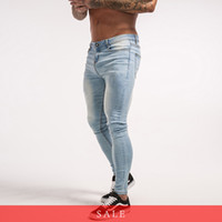 Skinny Jeans For Guys Stretch Jeans Light Blue Ripped Denim ...