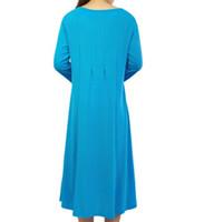 834f02ac248e Nuevos vestidos de color puro de manga media explosivos transfronterizos de Amazon  Ebay para el otoño de 2018 en Europa y América