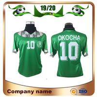 1994 레트로 에디션 # 10 Okoro 축구 유니폼 94/95 홈 스타 보이 셔츠 okechukwu dayo ojo Osas 클래식 축구 유니폼