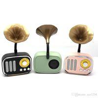 A67Retro Gramophone Music Box Mini bewegliche drahtlose Bluetooth Lautsprecher Radio-FT-Karten lange Standby-Geschenk-Lautsprecher auf Lager
