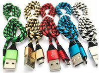 고품질 얼룩말 스타일의 금속 나일론 브레이드 마이크로 USB 케이블 합금 데이터 삼성 화웨이 스마트 폰 충전 케이블
