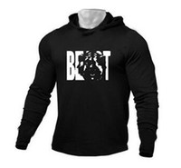 2019 gym new Men' s fitness cotton cap long- sleeved swea...