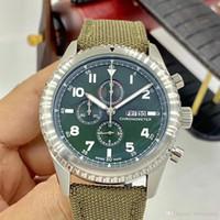 Специальный Стиль Aviator 8 Curtis Eagle Контрастный Зеленый Циферблат Кварцевый День Дата Мужские Часы Разборчивый Арабский Номер Военные Часы Наручные Часы
