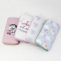 Cartera Mujer Donne Unicorn Portafoglio frizione borsa lunga di cuoio del telefono Zipper Multi Tipo di colore del modello