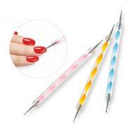 Ais Nail Art Décoration Dotting Pen Set acrylique double tête à ongles Vernis à ongles outil de peinture manucure Dot Pen Nails Art Kits de peinture
