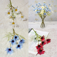 Decoração de casa Crisântemo Artificial Ramo Único Cenário da Primavera Flores Pastorais Decoração de Casamento Flor Simulada Nova Chegada 1 75 hz L1