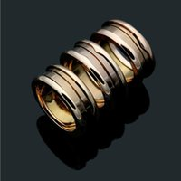 Fashion Narrow Style Brown Ceramic Whorl Rings, Rose Gold Me...