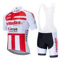Ciclismo conjunto 2020 Pro Team ropa Corendon circo en bicicleta hombres / mujeres de verano transpirable MTB bici Jersey babero envío del kit Ropa Ciclismo