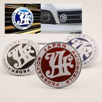 JDM JAF Racing Blue Red Black Japan Automobile Federation Ba...