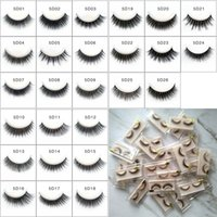 5D Self- adhesive False Eyelashes Thick Long Eye Lashes Full ...