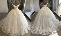 Glitter Sequin Ball Gown Lace Wedding Dresses Bridal Gowns O...