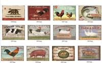 Hot Fazenda sinais de latoaria pet animal cão gato do vintage pintura artes decoração da parede loja de comida retro placa decoração do metal cartaz