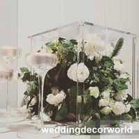 Новый стиль свадьба украшение стола прозрачный подсвечник Кристалл канделябры центральные Европа стиль домашнего декора подсвечники decor1132