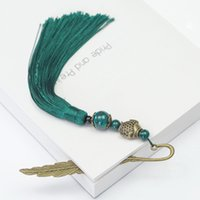 Beads Novelty Long Bookmark Vintage Hair Clasp Shape Traditi...
