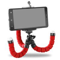 Esponja flexível Polvo Mini Tripé Para iPhone mini Tripé Da Câmera Suporte Do Telefone suporte do grampo Tripés Smartphone Dobrável Desktop