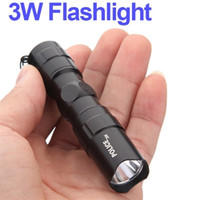 High Quality Mini Black Waterproof LED Flashlight Outdoor Ca...