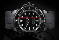 고품질 시계 126660 126600 Sea Dweller 세라믹 ETA 2813 자동 바다 검정 PVD 고무 스트랩 Mens 시계 손목 시계
