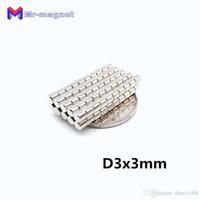 50 adet 3 x 3 mm mıknatıs Disk Sinter Ndfeb Öğretim mıknatıs D3 * 3 süper güçlü nadir toprak 3x3 neodim mıknatıslar D3x3 mm 3 * 3 mıknatıs imanes