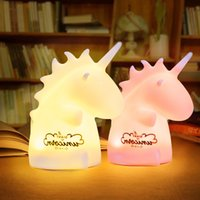 Silicone Unicorn LED night light USB rechargeable cartoon pe...