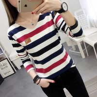 2020 Spring Autumn Korean- style T- shirt Women' s Long Sl...