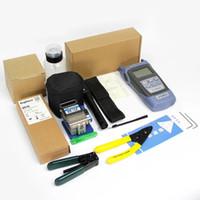 12 piezas / juego de herramientas de fibra óptica FTTH con cuchilla de fibra FC-6S y medidor de potencia óptico 5 km de localizador visual de fallas Localizador de cables