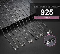 Свитерская цепь гальваническая стержень 925 стерлингового серебра ожерелье женщин универсальный кабель ключицы 14 дюймов 15 дюймов 17 дюймов базовый оптом ACC085