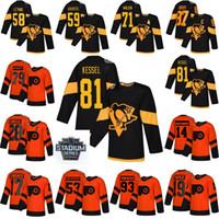 2019 Stadium Series Flyers de Philadelphie Jersey 53 Shayne Gostisbehere 14 Sean Couturier 87 Sidney Crosby 79 Carter Hart Hockey Maillots
