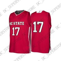 Custom NC State Wolfpack NCAA March Madness Red #17 Basketba...